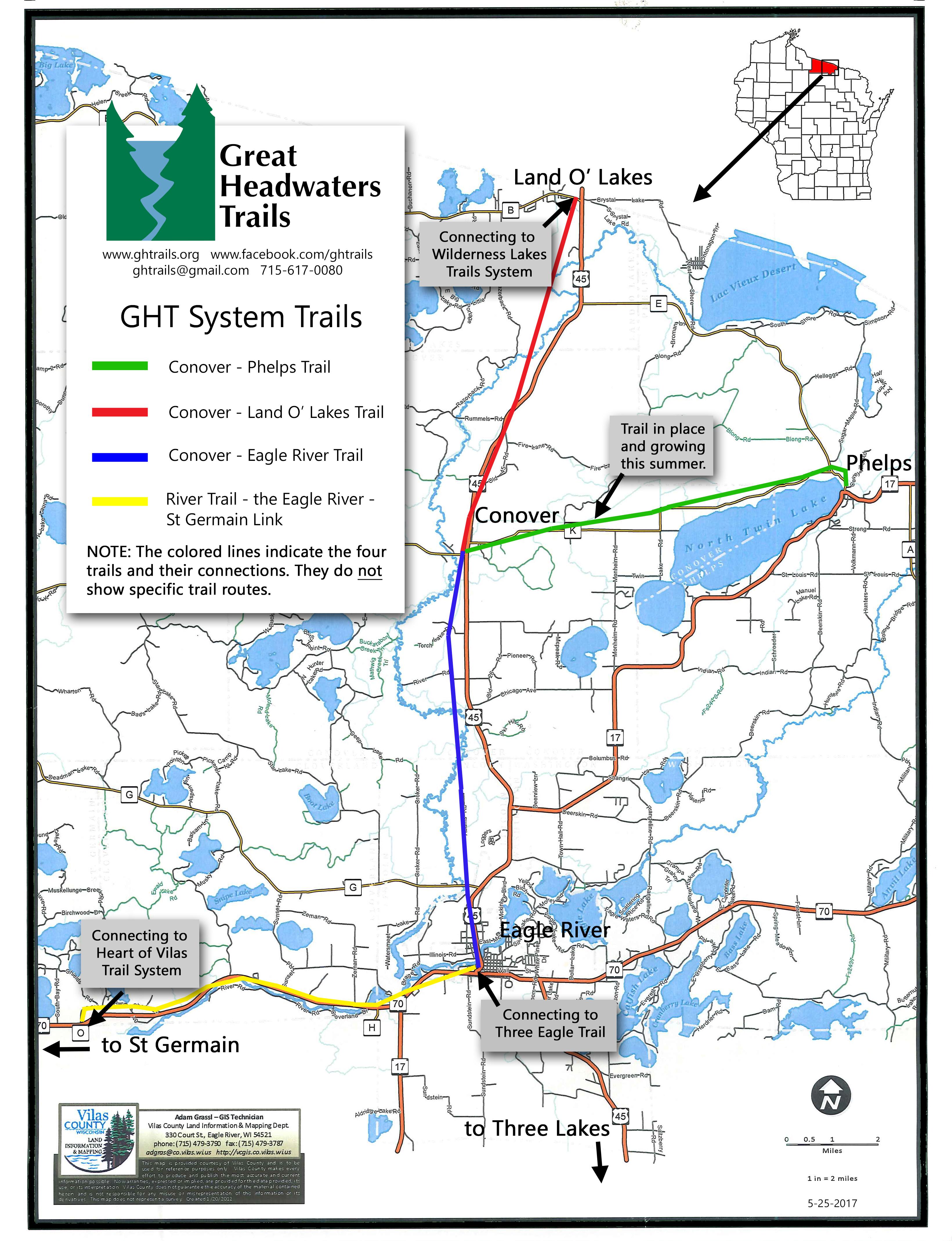 vilas county snowmobile trail map pdf