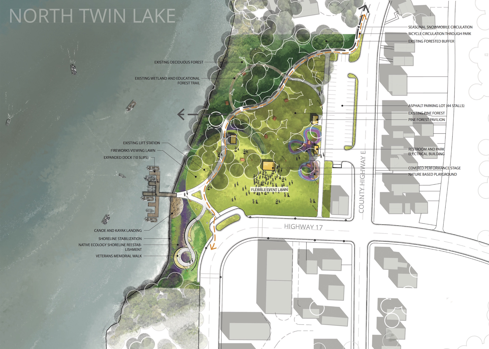 Park plans posted in Phelps
